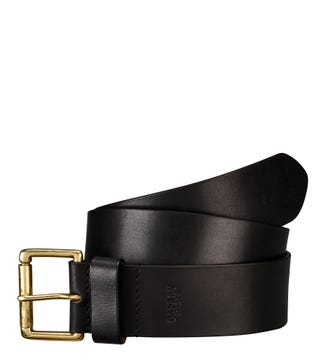 The Tandil Leather Belt in black | OSPREY LONDON