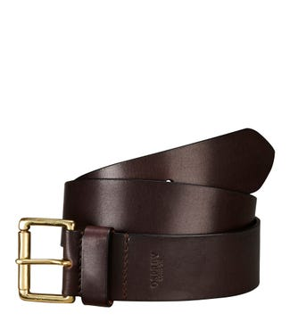 The Tandil Leather Belt in chocolate | OSPREY LONDON