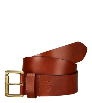 The Tandil Leather Belt in tan | OSPREY LONDON