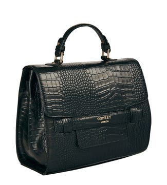 The Alban Leather Grab in black | OSPREY LONDON