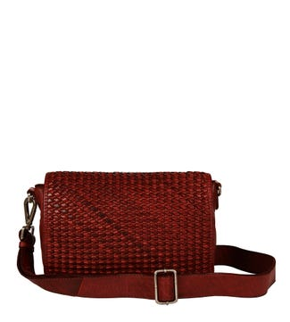The Alia Leather Cross-Body in cognac | OSPREY LONDON
