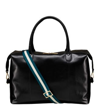 The Ambleside Leather Weekender in black | OSPREY LONDON