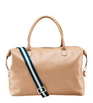 The Ambleside Leather Weekender in marzipan | OSPREY LONDON