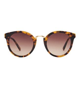Antibes Sunglasses in amber | OSPREY LONDON