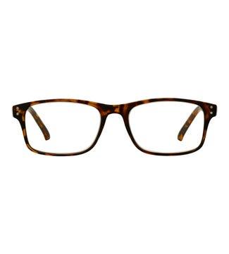 The Ballard Reading Glasses in shiny amber tortoiseshell | OSPREY LONDON