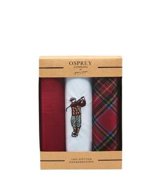 The Birkdale Handkerchief Set of 3 | OSPREY LONDON