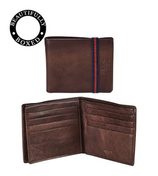 The Bonnington Leather ID Wallet in chocolate | OSPREY LONDON