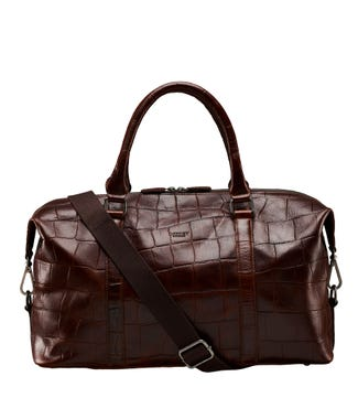 The Brixton Leather Satchel in cognac | OSPREY LONDON