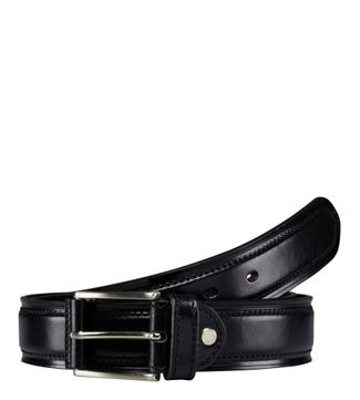 The Caine Leather Belt in black | OSPREY LONDON