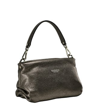 The Carina Shrug Italian Leather Handbag in bronze | OSPREY LONDON