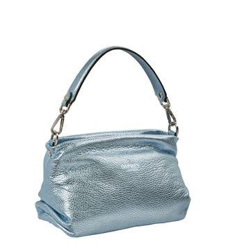 The Carina Shrug Italian Leather Handbag in mermaid | OSPREY LONDON