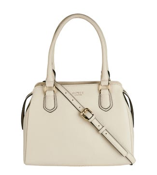 The Carla Leather Grab in ivory | OSPREY LONDON