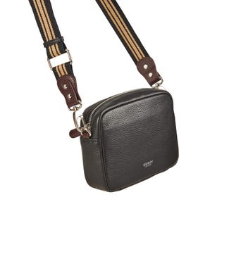 The Chiswick Leather Convertible Cross-Body in black | OSPREY LONDON