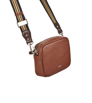 The Chiswick Leather Convertible Cross-Body in tan | OSPREY LONDON
