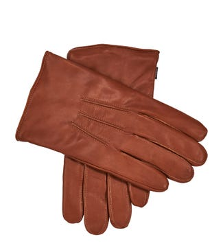 The Clarke Leather Gloves in tan  OSPREY LONDON