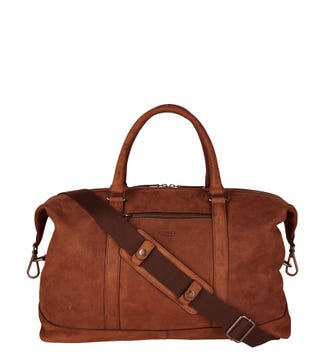 The Clayton Leather Weekender in chocolate | OSPREY LONDON