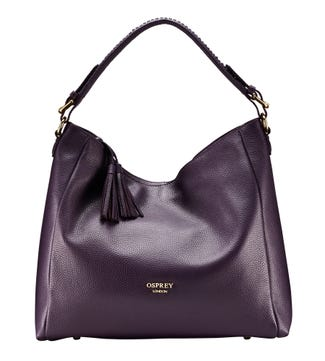 The Coast Leather Hobo in aubergine | OSPREY LONDON