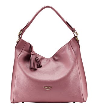 The Coast Leather Hobo in clay pink | OSPREY LONDON