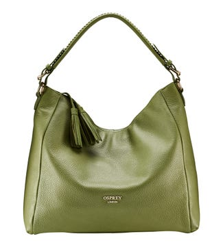 The Coast Leather Hobo in olive | OSPREY LONDON