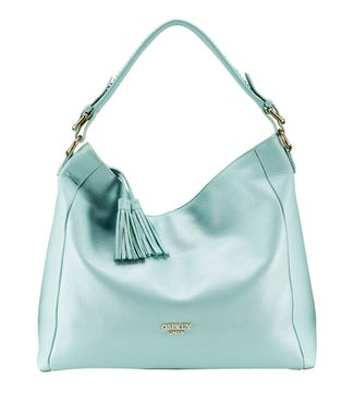 The Coast Leather Hobo in sea spray | OSPREY LONDON