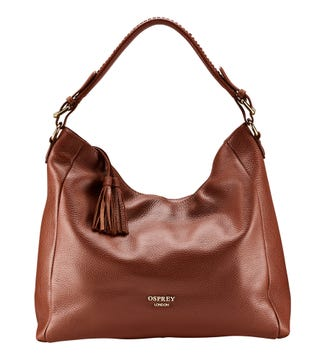 The Coast Leather Hobo in tan | OSPREY LONDON