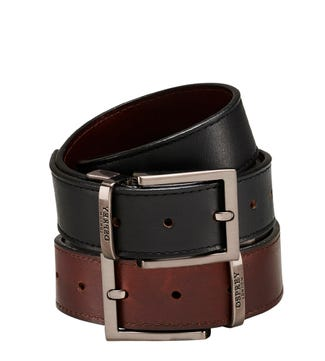 The Crawford Three and a Half Cm Reversible Leather Belt | OSPREY LONDON
