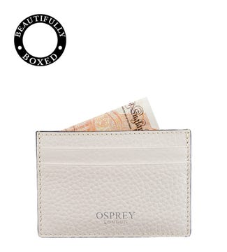 The Daria Leather Cardholder in coconut white | OSPREY LONDON
