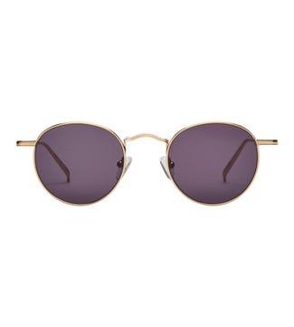 Eivissa Sunglasses in gold | OSPREY LONDON