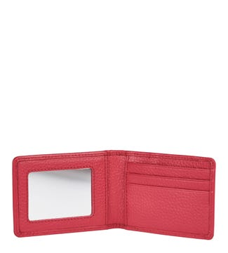 The Eloise Leather Cardholder & Mirror in tulip pink | OSPREY LONDON
