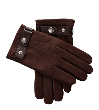 The Erik Leather Gloves in chocolate | OSPREY LONDON
