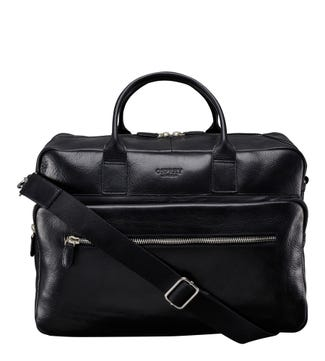 The Farringdon Leather Weekender in black | OSPREY LONDON