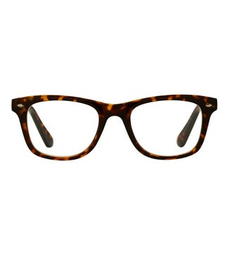 The Fitzgerald Reading Glasses in dark chocolate tortoiseshell | OSPREY LONDON