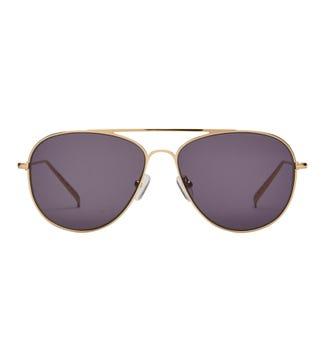 Fontana Sunglasses in gold | OSPREY LONDON