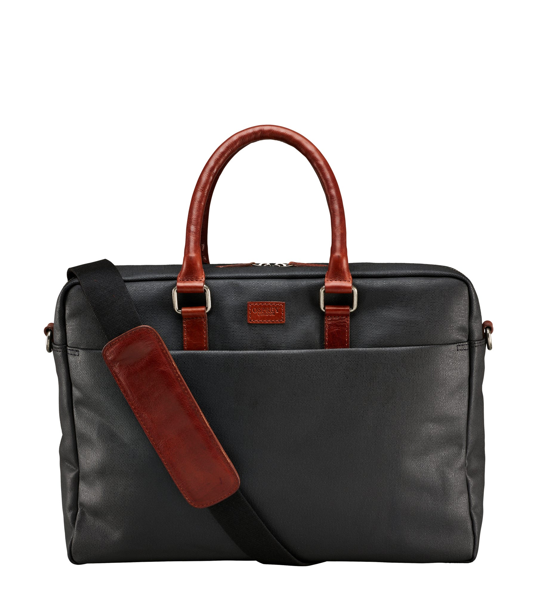 An image of The Grantham Waxed Canvas & Leather Laptop Bag