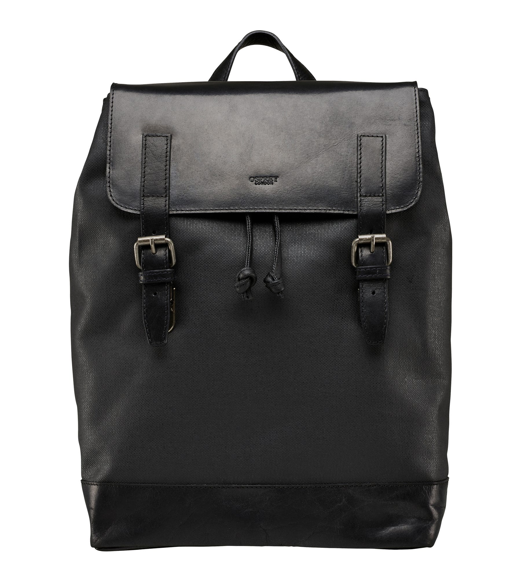 An image of The Grantham Waxed Canvas & Leather Backpack