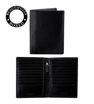 The Hawksmoor Leather Dress Wallet in black | OSPREY LONDON