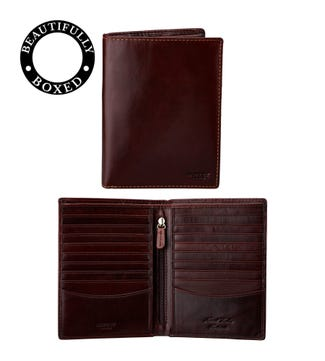 The Hawksmoor Leather Dress Wallet in chestnut | OSPREY LONDON