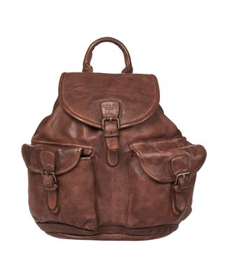 The Hazelden Leather Backpack in cognac | OSPREY LONDON