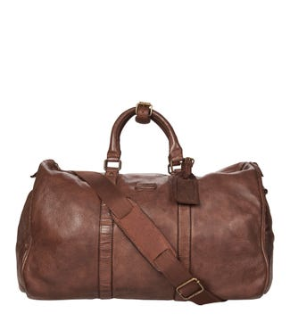 The Hazelden Leather Weekender in cognac | OSPREY LONDON
