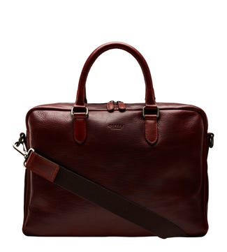 The Hector Leather Laptop Bag in cognac | OSPREY LONDON