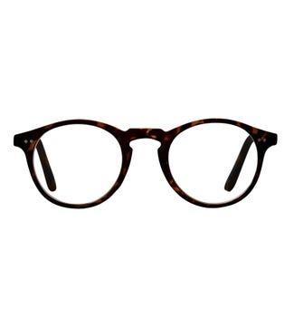 The Hemingway Reading Glasses in matte dark chocolate tortoiseshell | OSPREY LONDON