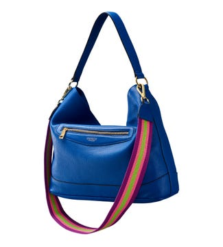 The Hendrix Leather Hobo in cobalt blue | OSPREY LONDON