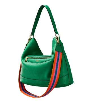 The Hendrix Leather Hobo in green | OSPREY LONDON