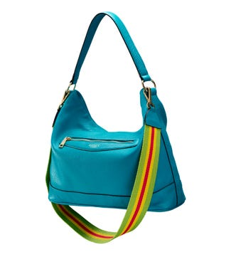 The Hendrix Leather Hobo in teal | OSPREY LONDON