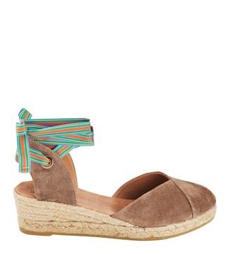 The Hendrix Spanish Suede Espadrille Sandals in tan  | OSPREY LONDON