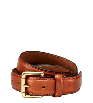 The Hewitt Three and a Half Cm Leather Belt in cognac | OSPREY LONDON