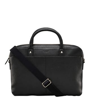 The Jacob Leather Laptop Bag in black | OSPREY LONDON