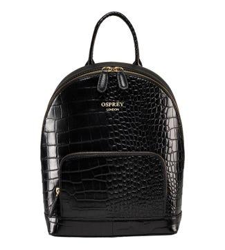 The Kellie Leather Backpack in black | OSPREY LONDON
