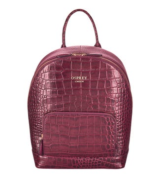 The Kellie Leather Backpack in oxblood | OSPREY LONDON
