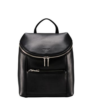 The Kelso Leather Backpack in black | OSPREY LONDON